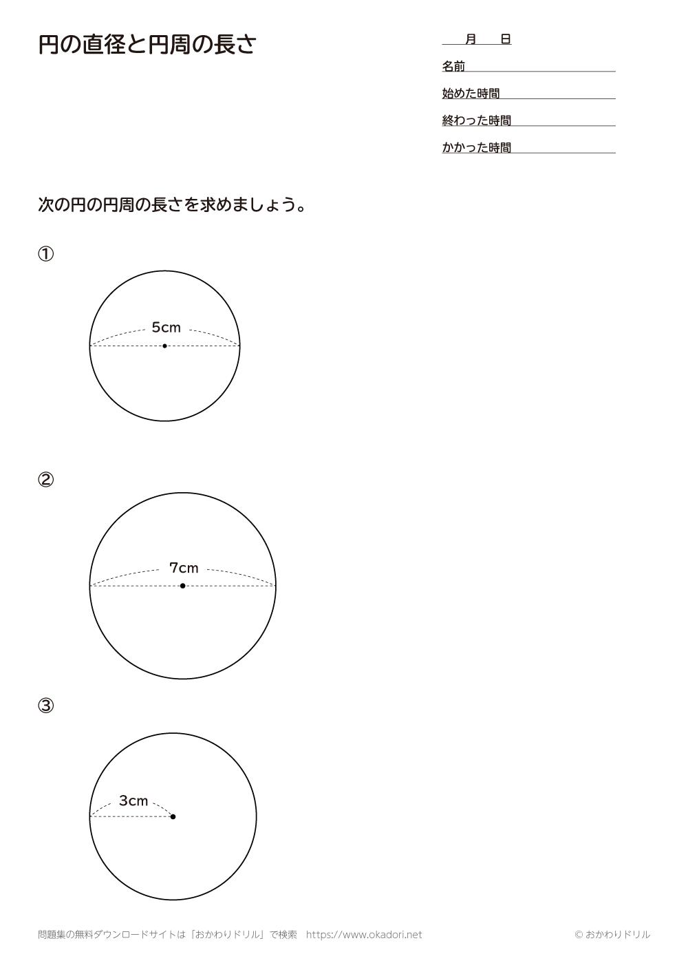 円の直径と円周の長さ1