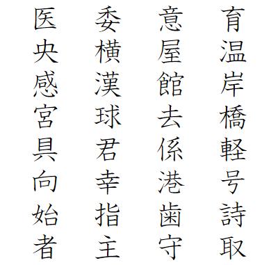小学3年生で習う漢字一覧