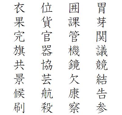 小学4年生で習う漢字一覧