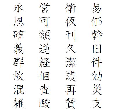 小学5年生で習う漢字一覧