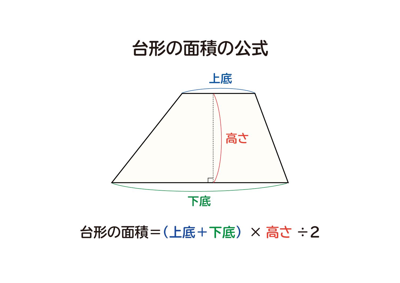 面積 の 公式 台形 の