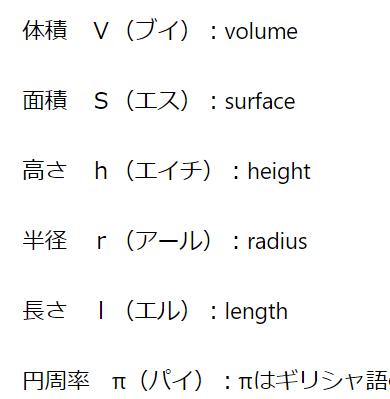 中学数学アルファベット文字