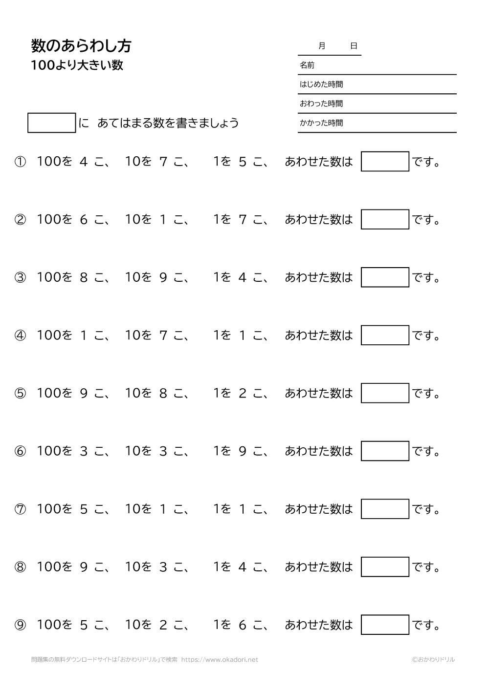 100より大きい数の表し方-1-1