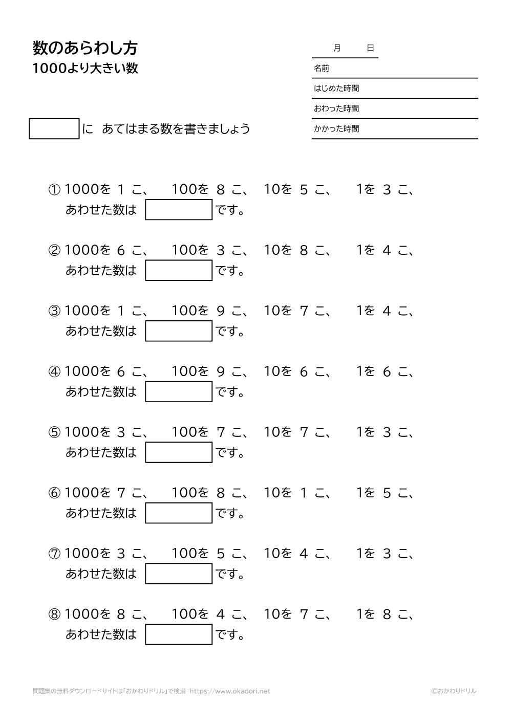 1000より大きい数の表し方-1-1
