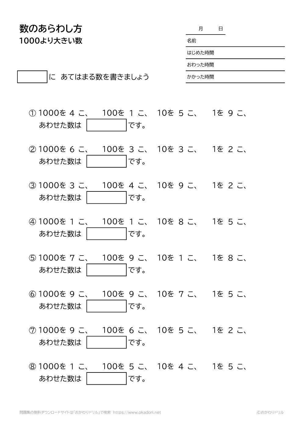 1000より大きい数の表し方-1-2