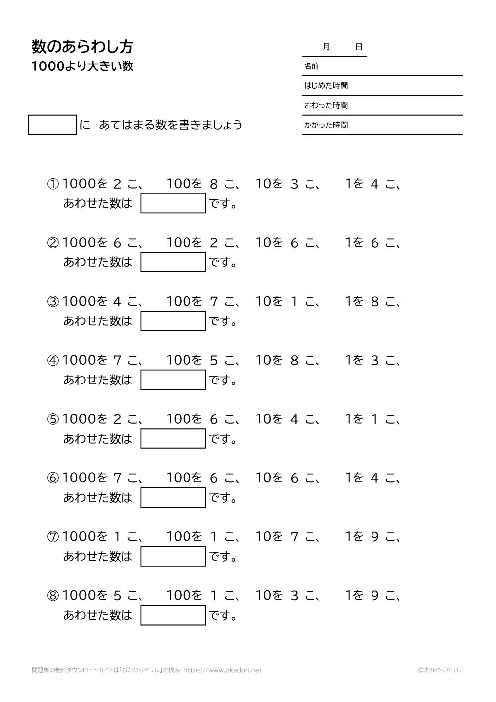 1000より大きい数の表し方-1-3