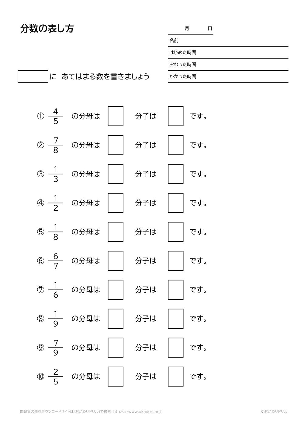 分数の表し方-1-2